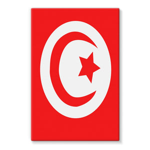 Flag Of Tunisia Stretched Canvas Wall Decor Flagdesignproducts.com