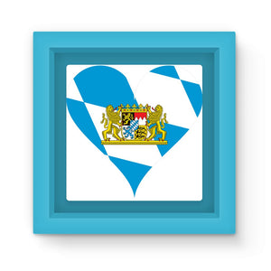 Bavaria Heart Flag Magnet Frame Homeware Flagdesignproducts.com