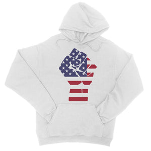America First Hand Flag College Hoodie Apparel Flagdesignproducts.com