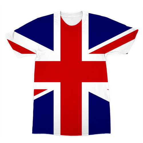 Basic United Kingdom Flag Sublimation T-Shirt Apparel Flagdesignproducts.com