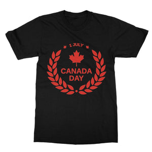 Canada Day Maple Leaf Flag Softstyle Ringspun T-Shirt Apparel Flagdesignproducts.com