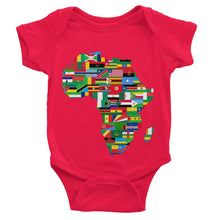 Africa Countries Flag Baby Bodysuit Apparel Flagdesignproducts.com