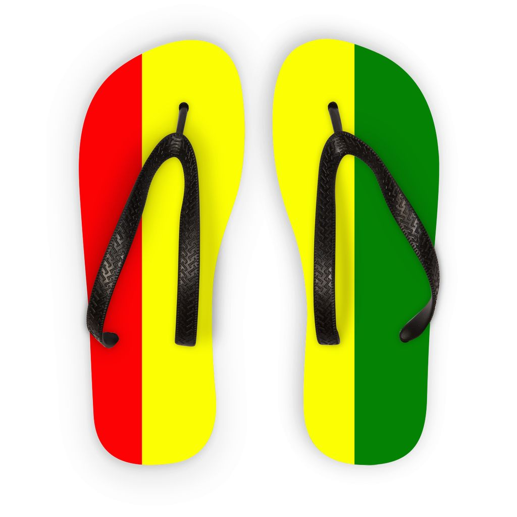 Flag Of Guinea Flip Flops Accessories Flagdesignproducts.com