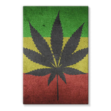 Green Yellow & Red Cannabis Stretched Eco-Canvas Wall Decor Flagdesignproducts.com