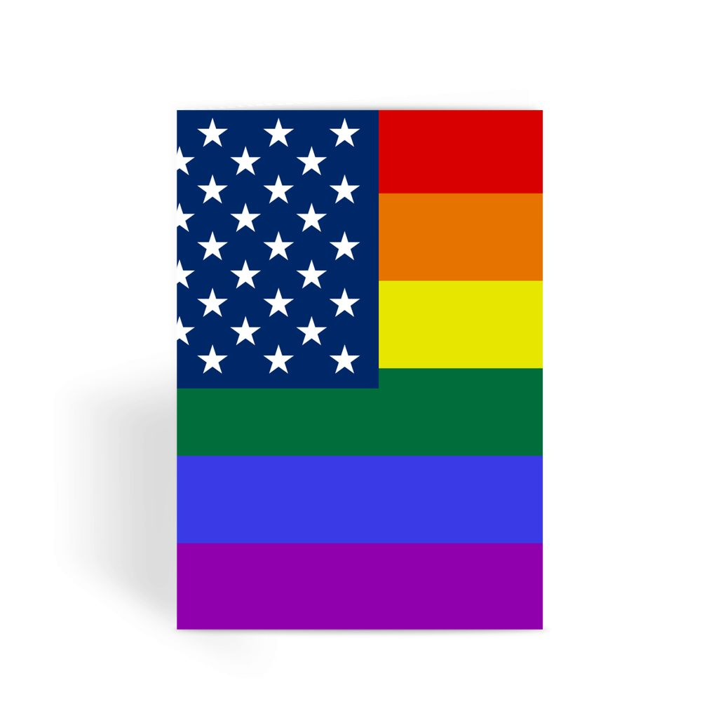 Colorful Usa Rainbow Flag Greeting Card Prints Flagdesignproducts.com