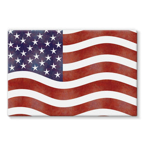 Waving Old Usa Flag Stretched Eco-Canvas Wall Decor Flagdesignproducts.com