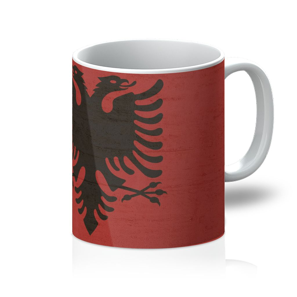 Albania Stone Wall Flag Mug Homeware Flagdesignproducts.com