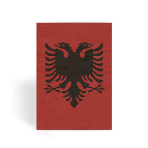 Albania Stone Wall Flag Greeting Card Prints Flagdesignproducts.com