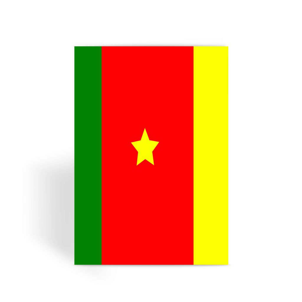 Flag Of Cameroon Greeting Card Prints Flagdesignproducts.com