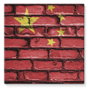 China Stone Brick Wall Flag Stretched Canvas Decor Flagdesignproducts.com