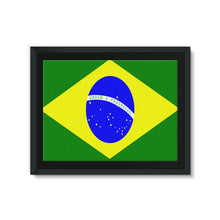 Flag Of Brazil Framed Canvas Wall Decor Flagdesignproducts.com