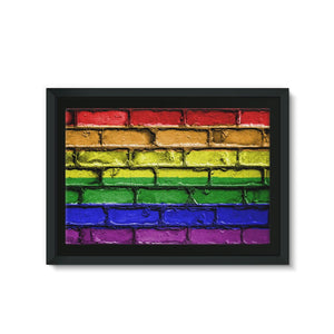 Colorful Lgbt Rainbow Flag Framed Eco-Canvas Wall Decor Flagdesignproducts.com