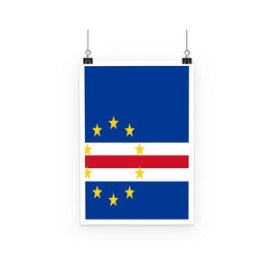 Flag Of Cape Verde Poster Wall Decor Flagdesignproducts.com