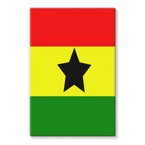 Flag Of Ghana Stretched Canvas Wall Decor Flagdesignproducts.com