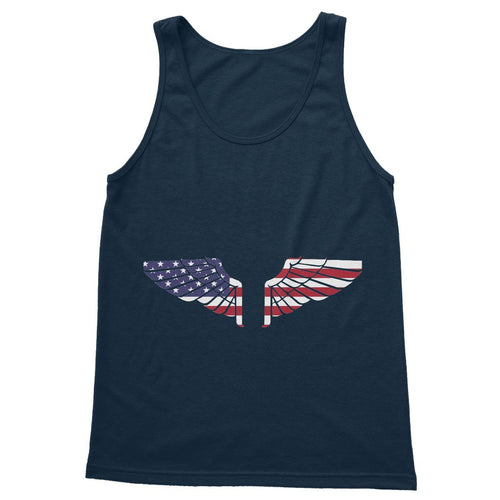 America Usa Wings Flag Softstyle Tank Top Apparel Flagdesignproducts.com