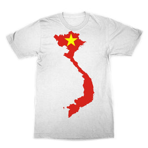 Vietnam Continent Flag Sublimation T-Shirt Apparel Flagdesignproducts.com