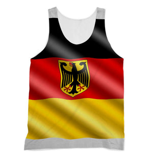 Waving Germany Flag Sublimation Vest Apparel Flagdesignproducts.com