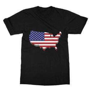 Usa Contient Flag Design Softstyle Ringspun T-Shirt Apparel Flagdesignproducts.com