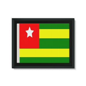 Flag Of Togo Framed Eco-Canvas Wall Decor Flagdesignproducts.com