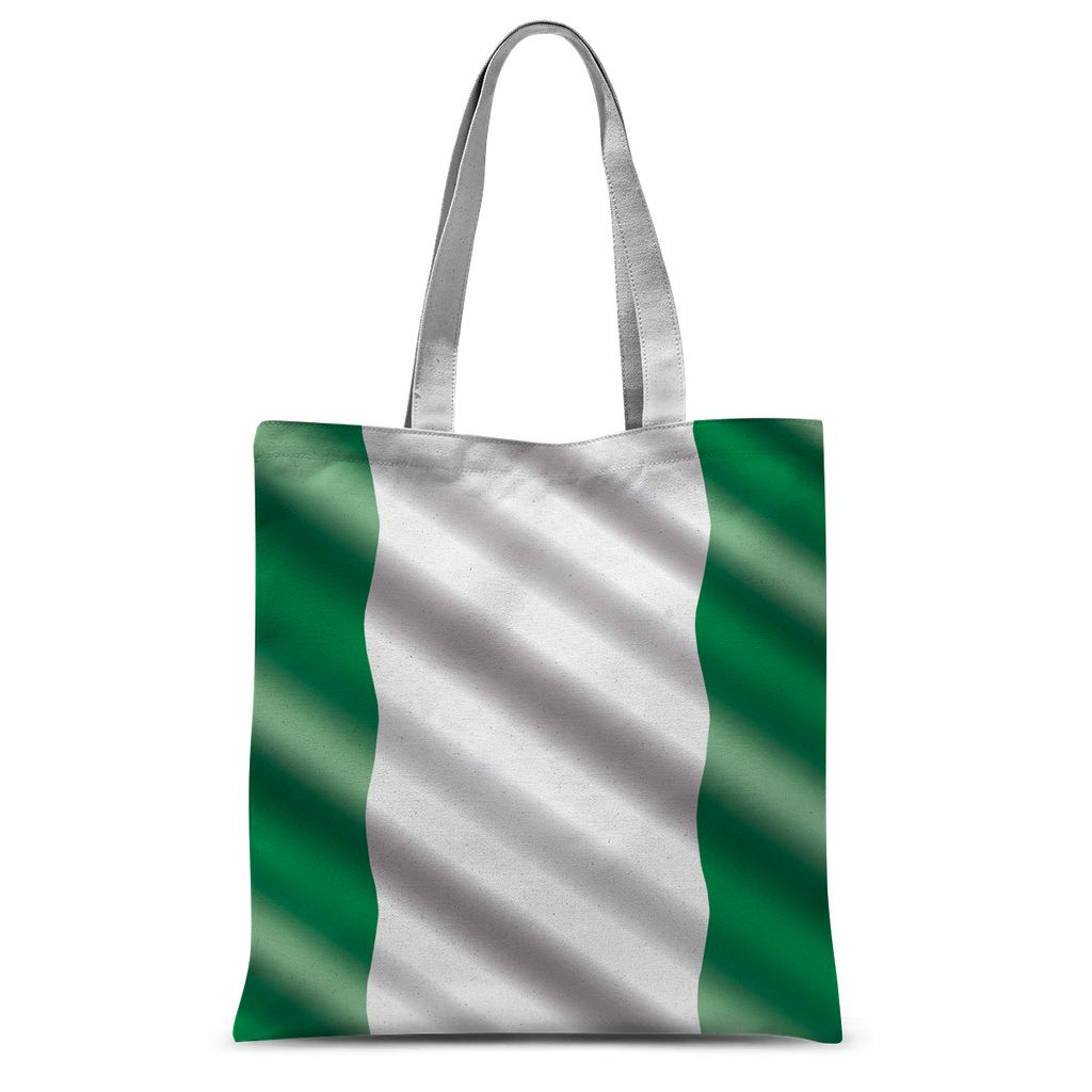 Waving Nigeria Flag Sublimation Tote Bag Accessories Flagdesignproducts.com