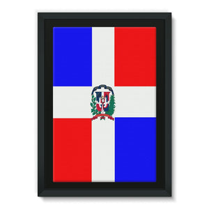 Flag Of Dominican Republic Framed Eco-Canvas Wall Decor Flagdesignproducts.com