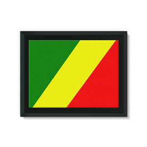 Flag Of The Rep Congo Framed Canvas Wall Decor Flagdesignproducts.com