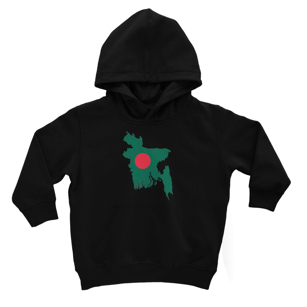Bangladesh Continent Flag Kids Hoodie Apparel Flagdesignproducts.com