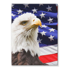 American Eagle And Usa Flag Stretched Canvas Wall Decor Flagdesignproducts.com