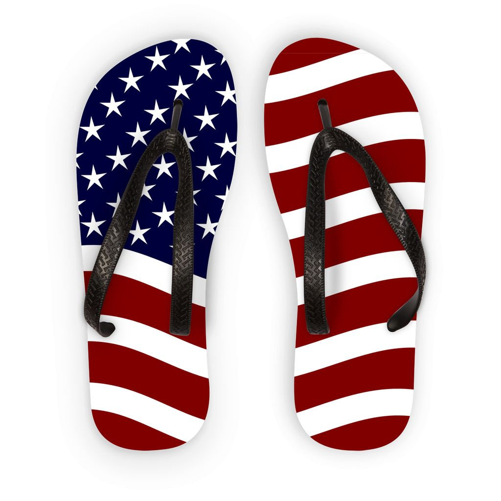 Waving Usa Flag Flip Flops Accessories Flagdesignproducts.com