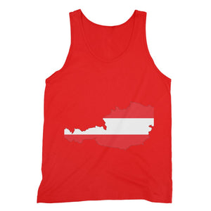 Austria Continent Flag Fine Jersey Tank Top Apparel Flagdesignproducts.com