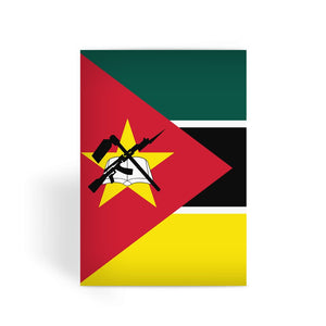 Basic Mozambique Flag Greeting Card Prints Flagdesignproducts.com