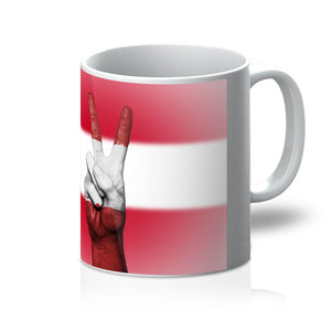 Austria Flag And Hand Mug Homeware Flagdesignproducts.com