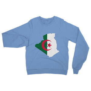 Algeria Continent Flag Heavy Blend Crew Neck Sweatshirt Apparel Flagdesignproducts.com