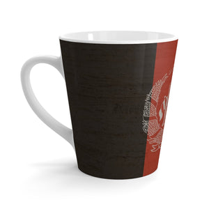 Afganistan Stone Wall Flag Latte Mug Mug Flagdesignproducts.com