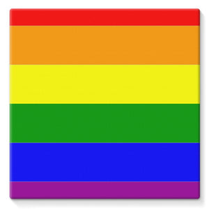 Colorful Rainbow Lgbt Flag Stretched Canvas Wall Decor Flagdesignproducts.com