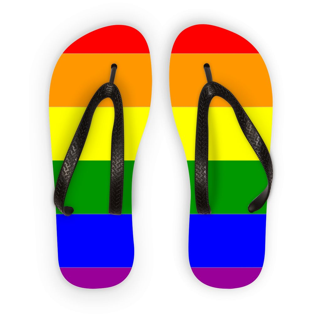Colorful Rainbow Lgbt Flag Flip Flops Accessories Flagdesignproducts.com