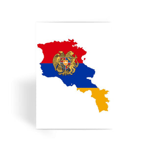 Armenia Continent Flag Greeting Card Prints Flagdesignproducts.com