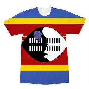 Flag Of Swaziland Sublimation T-Shirt Apparel Flagdesignproducts.com
