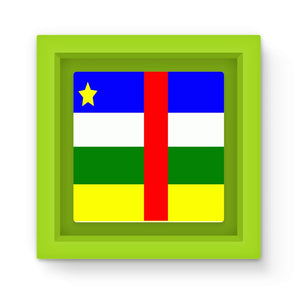 Flag Of Central African Magnet Frame Homeware Flagdesignproducts.com