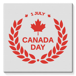 Canada Day Maple Leaf Flag Stretched Canvas Wall Decor Flagdesignproducts.com