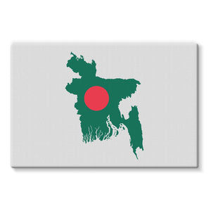 Bangladesh Continent Flag Stretched Canvas Wall Decor Flagdesignproducts.com