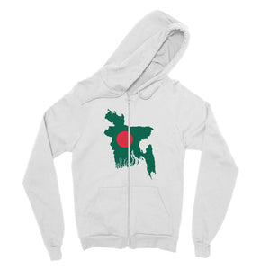 Bangladesh Continent Flag Fine Jersey Zip Hoodie Apparel Flagdesignproducts.com