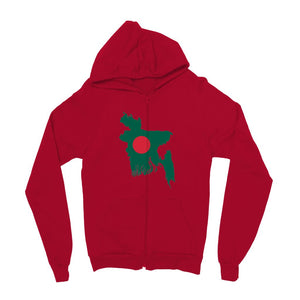 Bangladesh Continent Flag Kids Zip Hoodie Apparel Flagdesignproducts.com