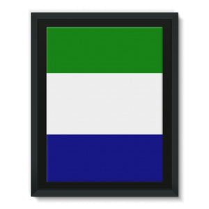 Flag Of Sierra Leone Framed Eco-Canvas Wall Decor Flagdesignproducts.com