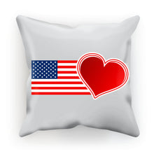Usa Flag And Heart Cushion Homeware Flagdesignproducts.com