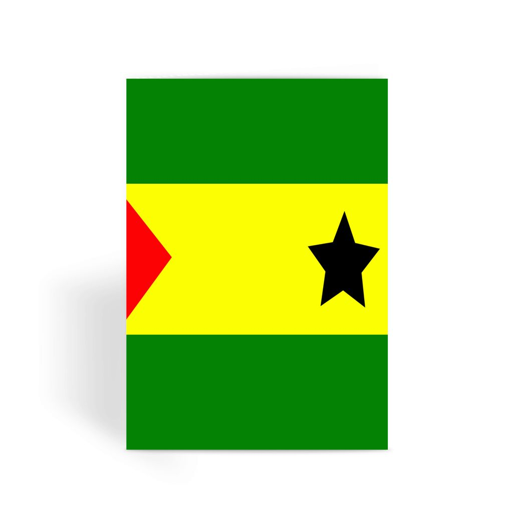 Flag Of São Tomé &principe Greeting Card Prints Flagdesignproducts.com