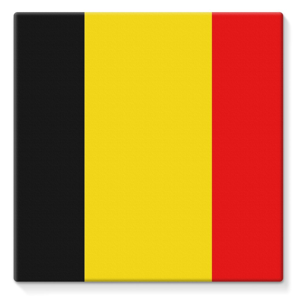 Basic Belgium Flag Stretched Canvas Wall Decor Flagdesignproducts.com