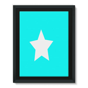 Flag Of Somalia Framed Canvas Wall Decor Flagdesignproducts.com