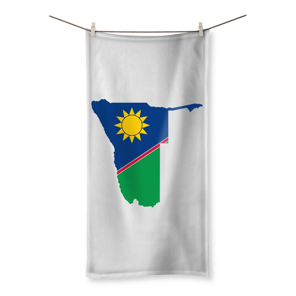 Namibia Continent Flag Beach Towel Homeware Flagdesignproducts.com