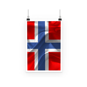 Flag Of Norway Poster Wall Decor Flagdesignproducts.com
